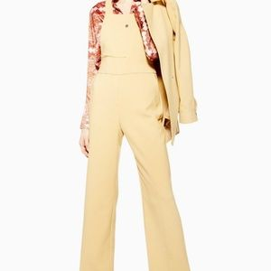 TopShop Bonded Yellow Jumpsuit